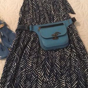 Handbags - Blue leather belt bag. Just sharing.